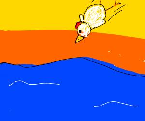 diving chicken