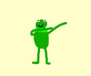 Kermit the frog dabbing