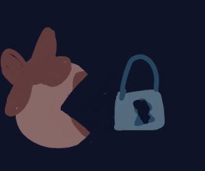 Ms Pac-Man eats a lock