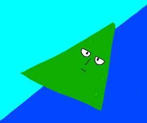 Saitama as a green nacho