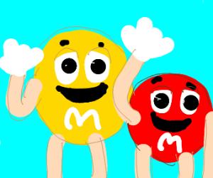 M&Ms say hello