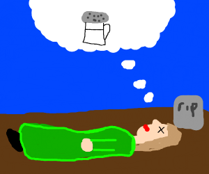 Dead girl dreaming of salt