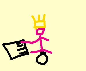 Small pink girl with yellow crown plays piano