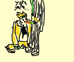 Dio chugs a carrot