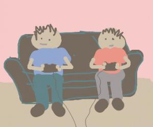 people playing smash bros