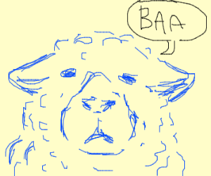 Blue sheep says baa