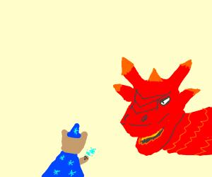 Cat wizard vs fire dragon!