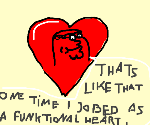 Peter Griffin head in a heart