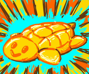 Behold! A golden sea turtle!