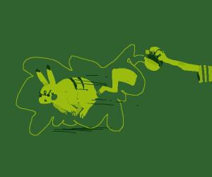 Enemy trainer tryna catch my Pikachu