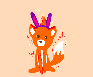 Literal Firefox with rabbit ears