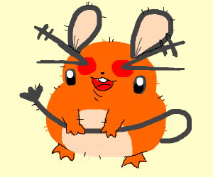 Dedenne but his cheeks and eyes are switched