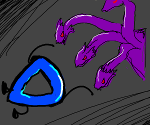 Drawception D hails hydra