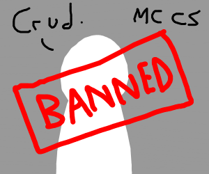 You got banned from your MC christian server