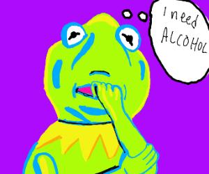 Kermit craves Alcohol