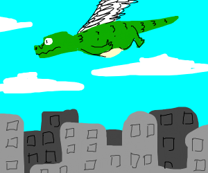 Dinosaurs Soaring In The Sky