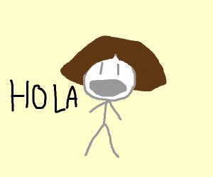 Dora saying hola