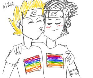 Sasuke and naruto bein gay