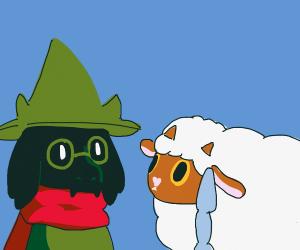 Ralsei and Wooloo