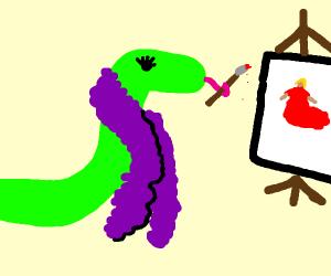 Fashion designer snake