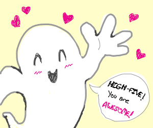 ghost offers you high five