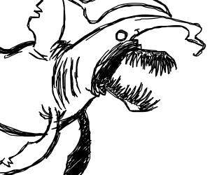 A homicidal goblin shark