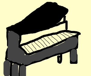piano w no black keys