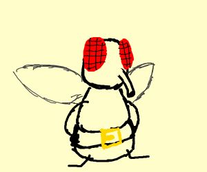 Fly wearing a nice big belt