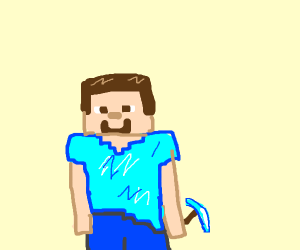 Guy with a blue shirt. Steve from minecraft??