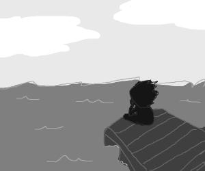 man by docks