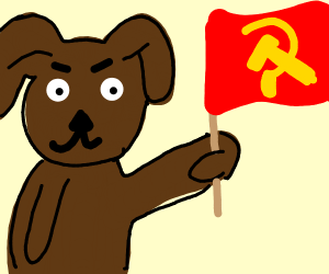 dog supporting communism