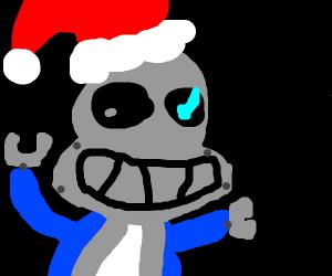 cyborg santa sans