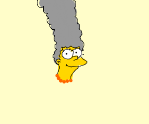 Marge Simpson but gray
