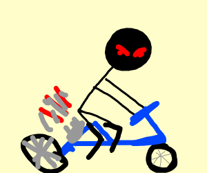 evil biker stickman