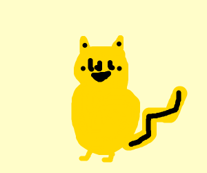 Det. Pikachu with eyes and cheeks reversed