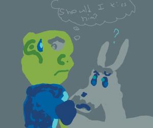 Shrek wants you to kiss his donkey