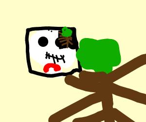 jack skelington facetimes a tree