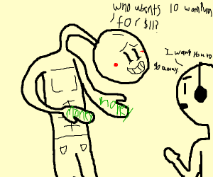 guy selling money