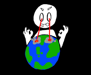 balding man with ok hands destroys world