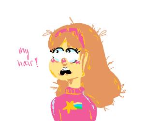 Mabel had a bad hair day.