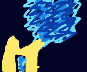 blue vape smoke