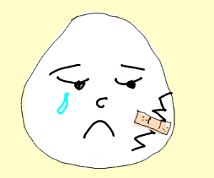 Sad Humpty w/bandaged crack