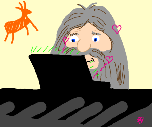 Caveman discovers online dating