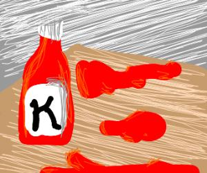 Spilled ketchup