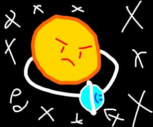Orbiting planet