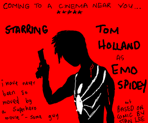 Tom Holland as the new emo Spider-Man