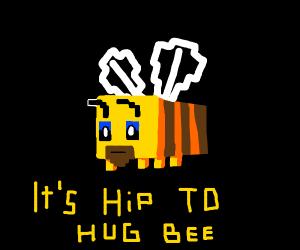 minecraft bee with beard