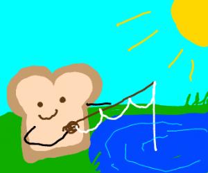 Slice of bread fishing