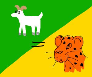 goat = cheetah