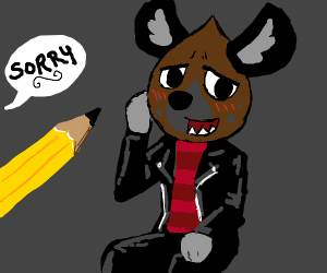 Artist sorry for drawing furry...